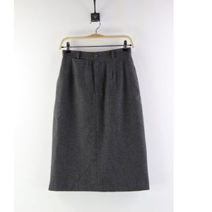 Very warm 100% wool Gray Skirt Size 8